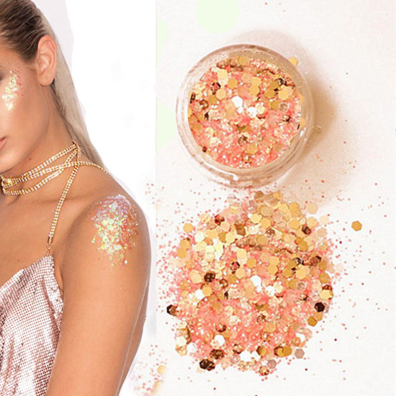 Glitter-Pots Beauty Makeup Sequins Body-Shadow Nail-Face New Hybrid Shinning Round Colorful