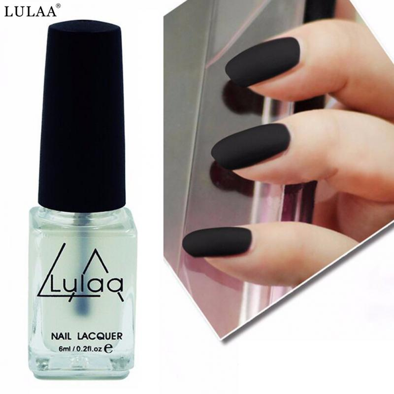 LULAA Non toxic Matte Nail Polish Paint Oil Pearl Light Top Oil ...