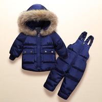2018 Winter Children Clothing Sets Girls Warm Duck Down Jacket for Baby Girl Clothes Children's Coat for Boy Snow Wear Kids Suit