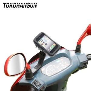 Image 2 - Suporte do telefone da motocicleta para samsung galaxy s8 s9 s10 para o iphone x 8 mais suporte da bicicleta móvel suporte à prova dwaterproof água para moto saco