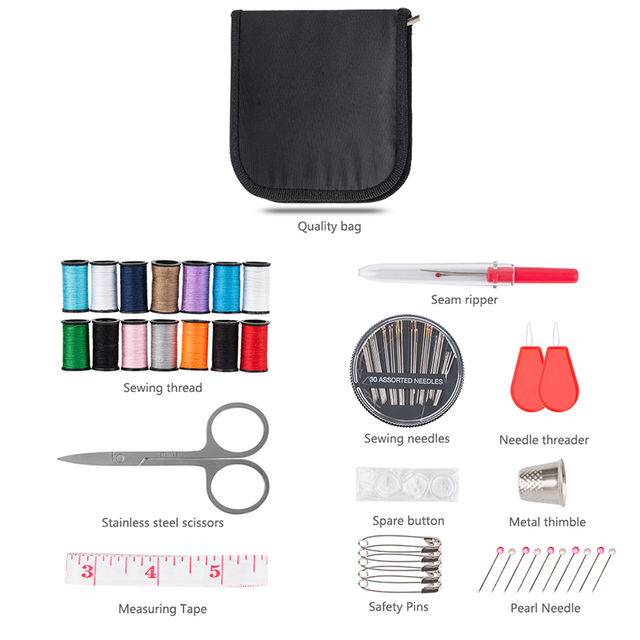 70pcs portable travel sewing kit n