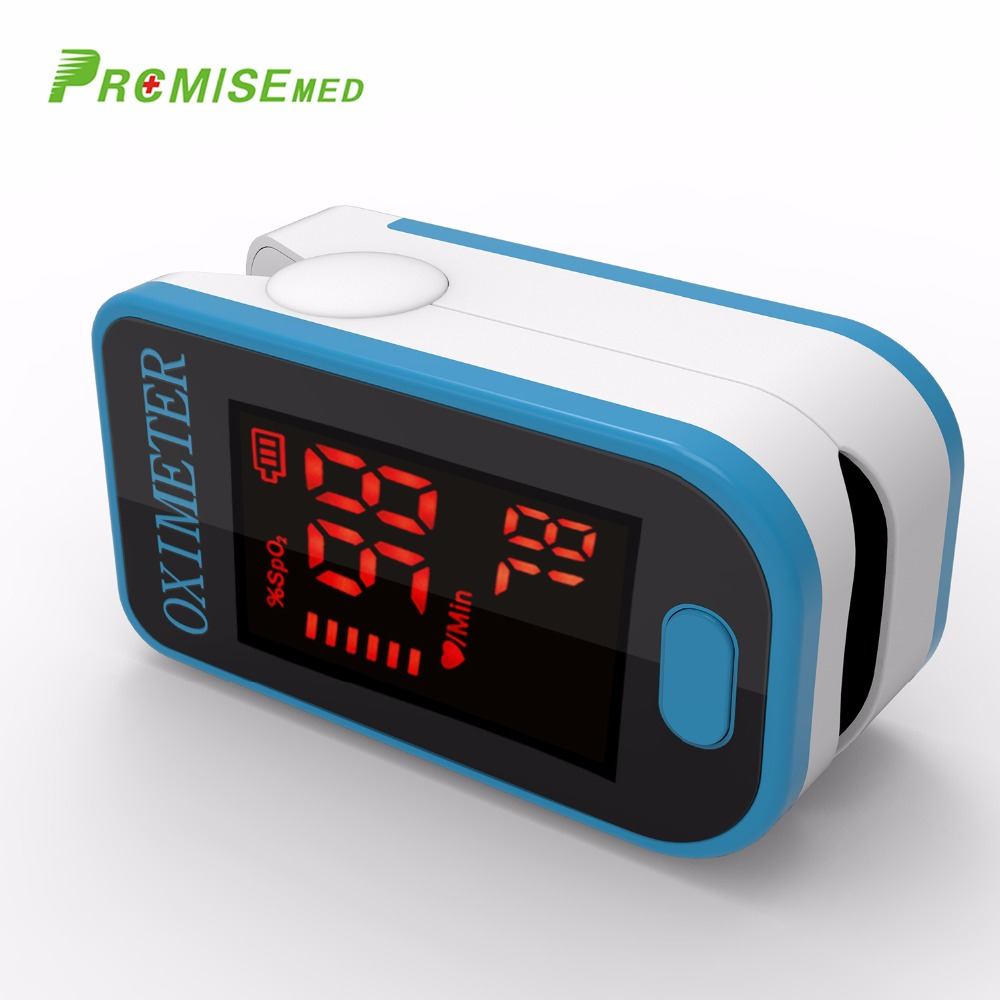 PRO-F4 Finger Pulse Oximeter,For Medical And Daily Sports,Pulse Heart Rate Blood Oxygen SPO2 Saturation Monitor,CE Approval-Blue image