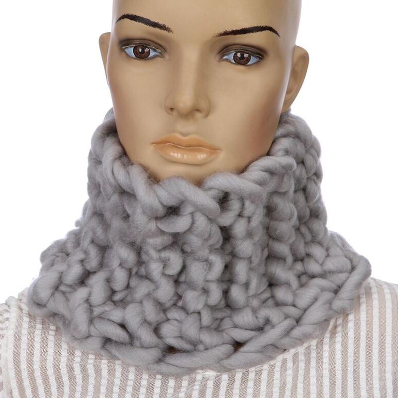 2018 Nová korejská značka Shag Line prsten šátky Zimní teplé ruční pletení ženy Bavlna šála pro dospělé 22 * 23 cm lze přizpůsobit
