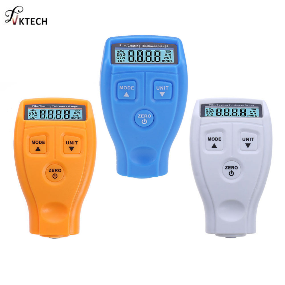 GM200 Coating Painting Thickness Gauge Tester Ultrasonic Mini Varnish Film Coating for Car Paint Gauge English Russian Manual gm200 coating thickness gauge standard model with built in probe for ferrous metal substrates yellow