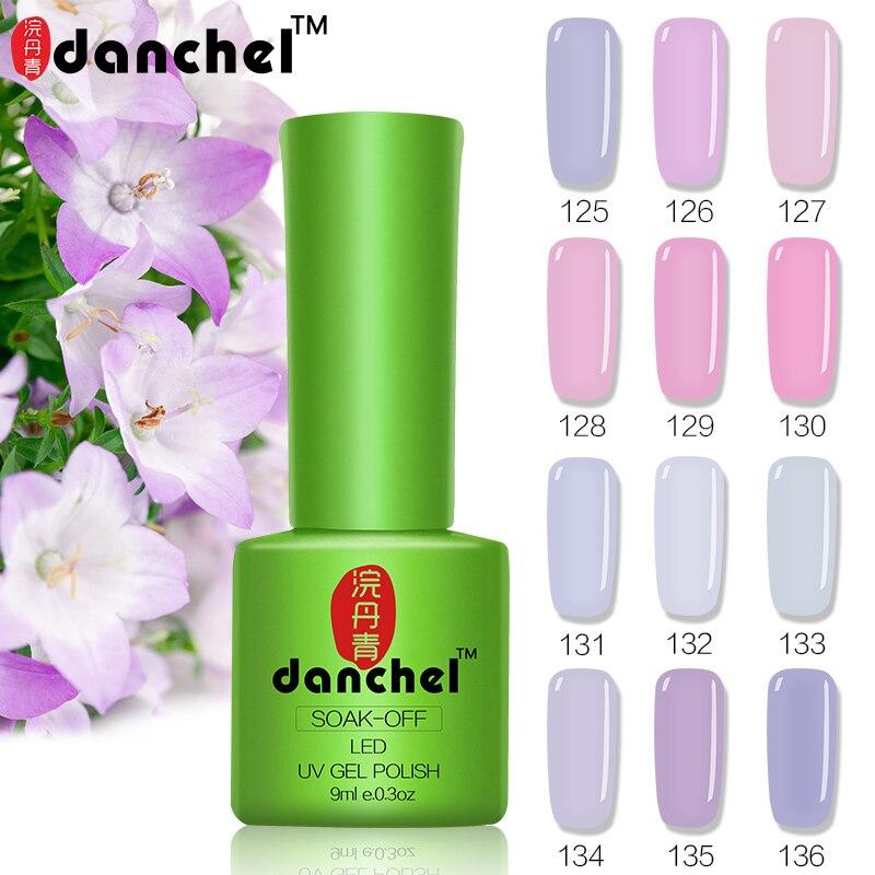 Danchel 12pcs/lot Gel Polish Pink Purple Series LED UV Nail Gel Lak Long Last Gel Varnish Gelpolish Vernis Primer Semi Permanent