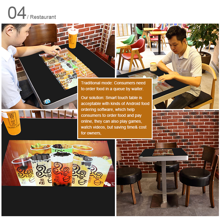 obett60 21 5 inch smart table interactive restaurant touch coffee table 2 8g with food ordering system