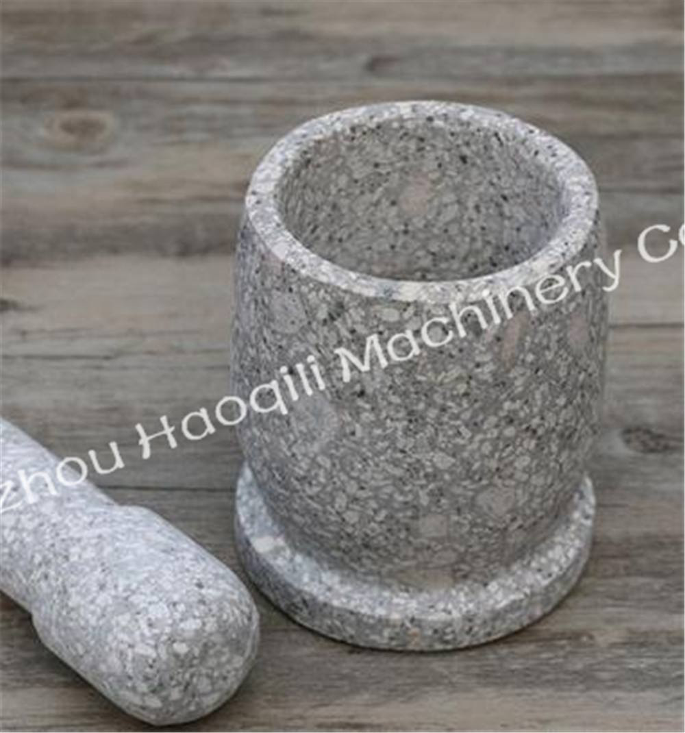 Elegant Hand White Stone Marble Mortar Pestle Set Grinder