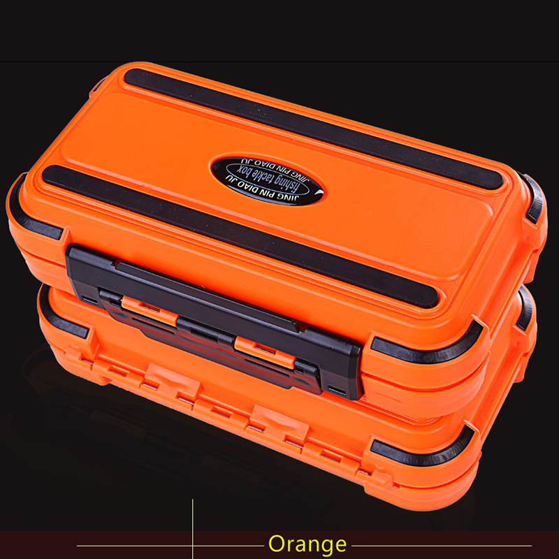 20CM Plastic Fishing Tackle Box 28 Grids Compartments 3Color Fish Lure Line Hook Portable Accessories