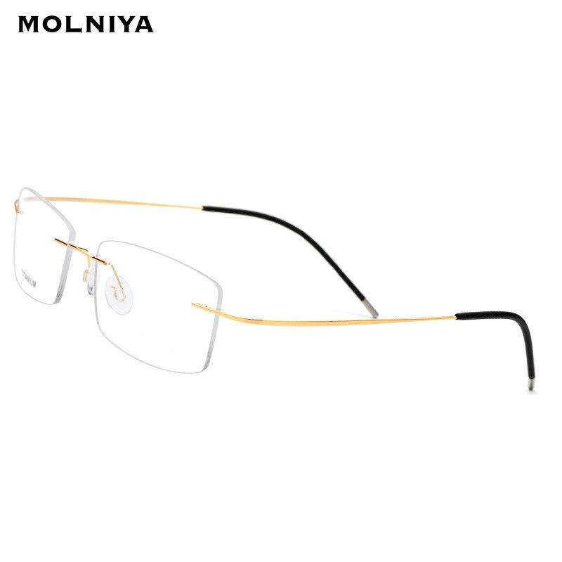 Man Light Frameless Rimless Titanium Glasses Frame Men Ultralight Square Prescription Eyeglasses  Myopia Optical Frames Eyewear