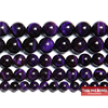 "Free Shipping Natural Stone Purple Tiger Eye Agates Round Loose Beads 15"" Strand 6 8 10 MM Pick Size"