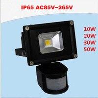 12pcs 30W Human Body Induction Flood Light Warm Cool Led PIR Motiom Sensor Detective Floodlight Outdoor