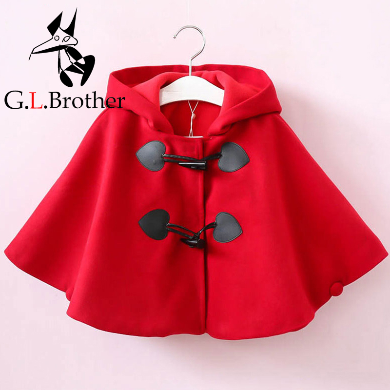 2-8Years Baby Kids Girl Outwear Coat Autumn Winter Warm Jackets Cloak Coat Fashion Girls Coats with velvet Red Cute Costume D66 fashion red longline coat with belt