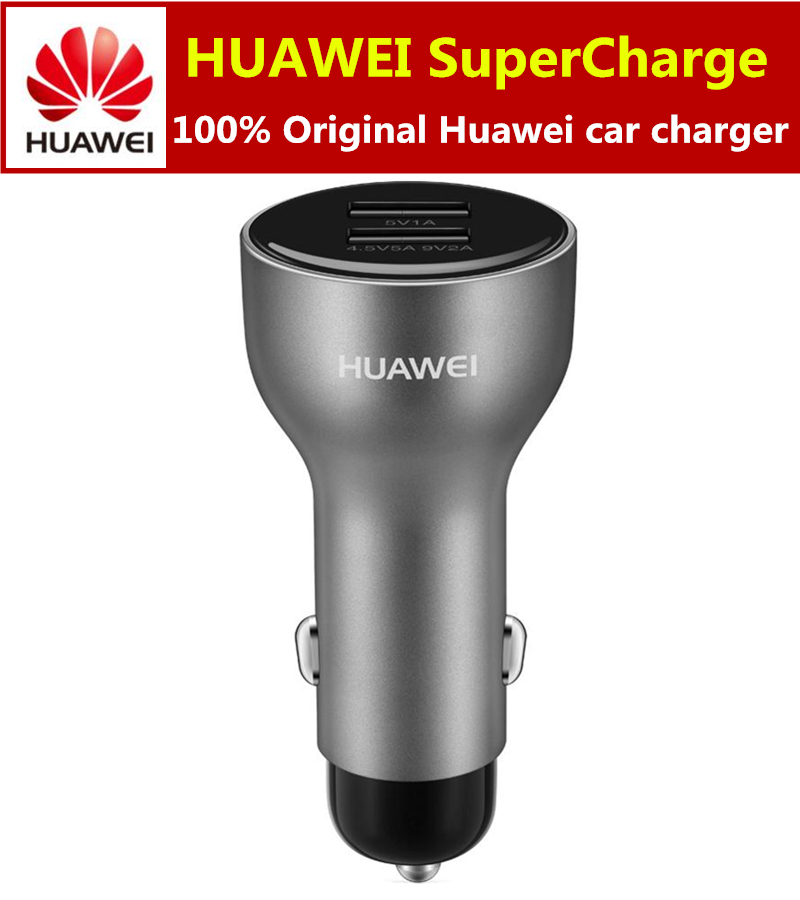 Original HUAWEI SuperCharge Car Charger AP38 4.5V/5A, 5V/4.5A+1M 5A Type C Quick Charge Cable For Mate 9 Pro P10 Plus Samsung