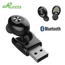 Roreta XG12 Bluetooth 5.0 Wireless Earphone Mini Handsfree call Headset With Mic Stereo HIFI Sport Earphones With USB charger
