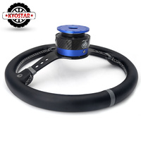Racing Car Steering Wheel Quick Release Hub Adapter Boss Kit Real Carbonfiber Aluminum Steering Wheel Quick Release 12 Bolts