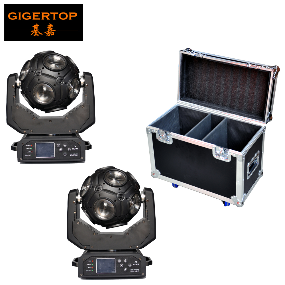 Freeshipping 2 Unit Football Led Moving Head Light Y Axis Endless Rotation 12x20W USA Cree RGBW 4IN1 LEDS Solar Storm Flightcase freeshipping 2xlot 16 head led moving head spider light endless rotation 16x25 high power rgbw 4in1 beam full color lcd display
