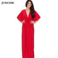 2017 الصيف ملابس بوهو ماكسي فستان الشمس لونغ للدهون 4xl زائد حجم السيدات الشاطئ ملابس رداء مثير خمر أنيقة أحمر أنبوب