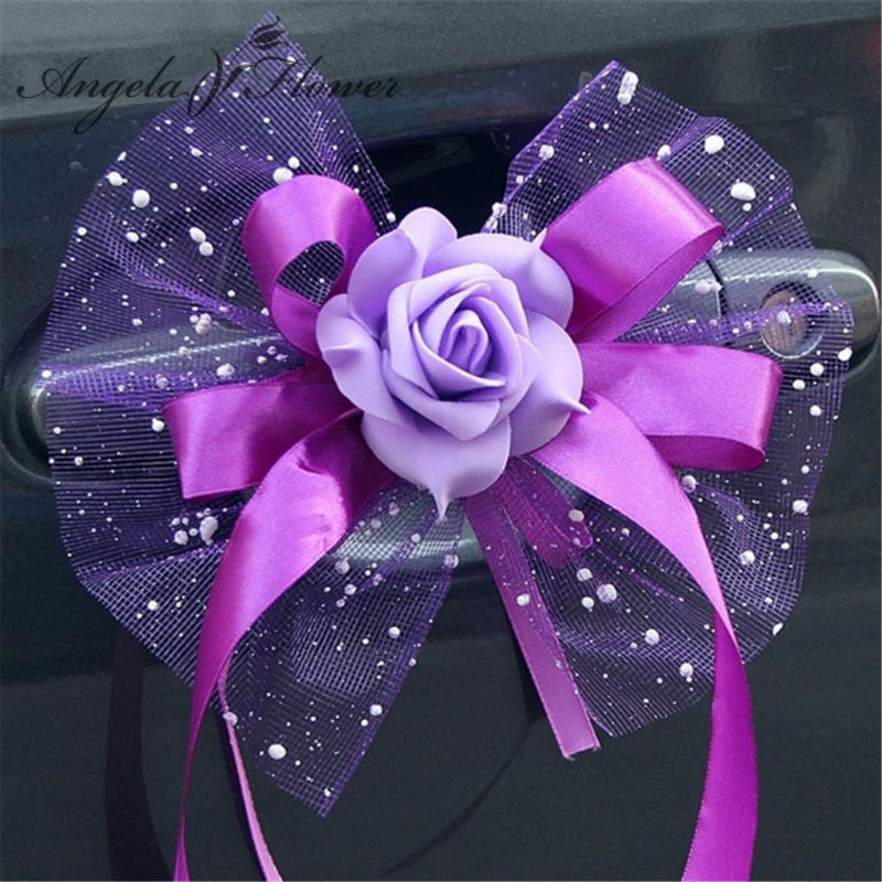 New 6pcs wedding flower bouquet car decoration flower auto New flower decoration
