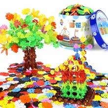 12 цветов playmobil строительные блоки Снежинка оптом собранная рука-глаз координации Дети Обучающие цифровые игрушки подарки 45