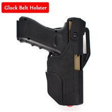 Glock Pistol Holster Quick Drop Right Hand Belt Holster Tactical Glock 17 19 22 23 31 32 Army Gun Airsoft Air Gun Waist Holster tactical quick release automatic loading and locking waist thigh holster for glock