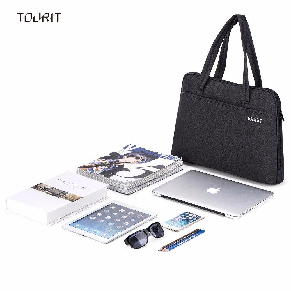 Туроператора плеча Портфели сумка для 15.6 дюймов ноутбук MacBook Pro, MacBook Air, Ultrabook Нетбуки Планшеты-черный