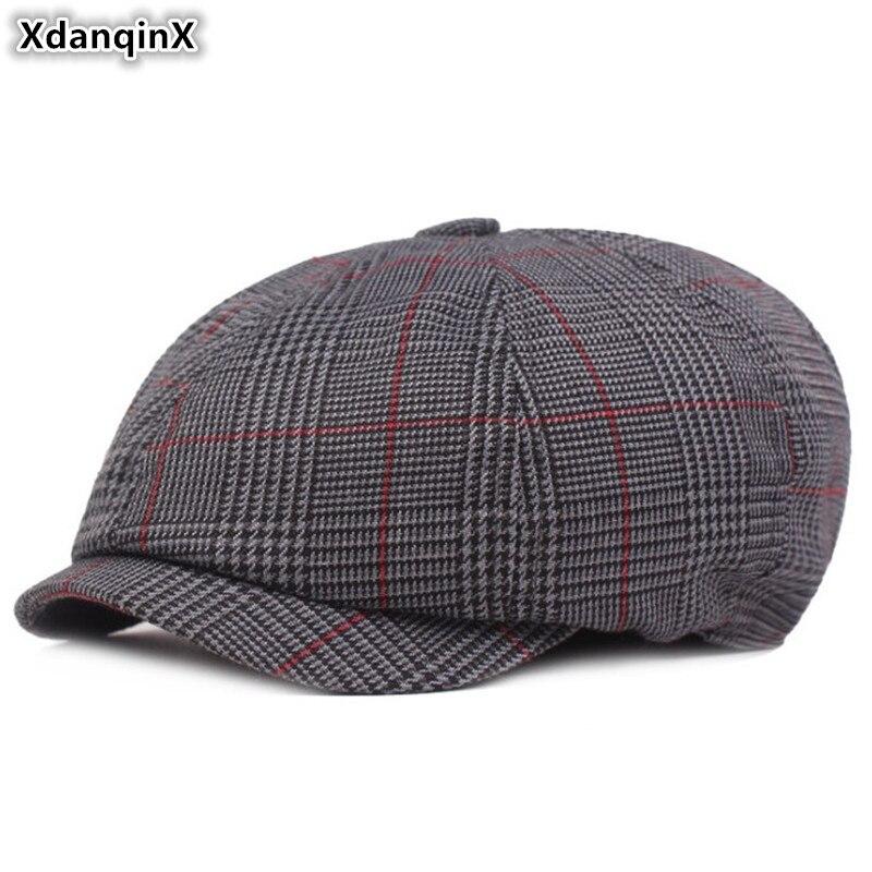 Initiative Xdanqinx Adult Men Vintage Hat Simple Cotton Newsboy Caps Literary Youth Bailey Hats Casual Fashion Retro Male Bone Snapback Cap Men's Hats