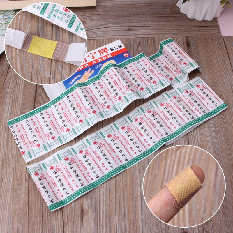 50pcs Disposable Waterproof Adhesive Bandage First Aid Breathable First Aid Kit Medical Hemostatic Stickers Kids Children Adult Mother & Kids Skin Care