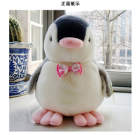 about 30cm bowtie penguin soft plush toy throw pillow ,birthday gift h2032