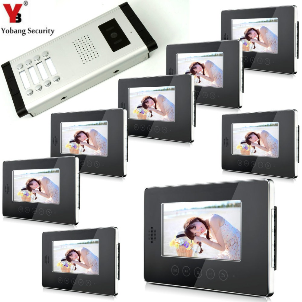 YobangSecurity Apartment Intercom Entry System 8 Monitors Wired 7