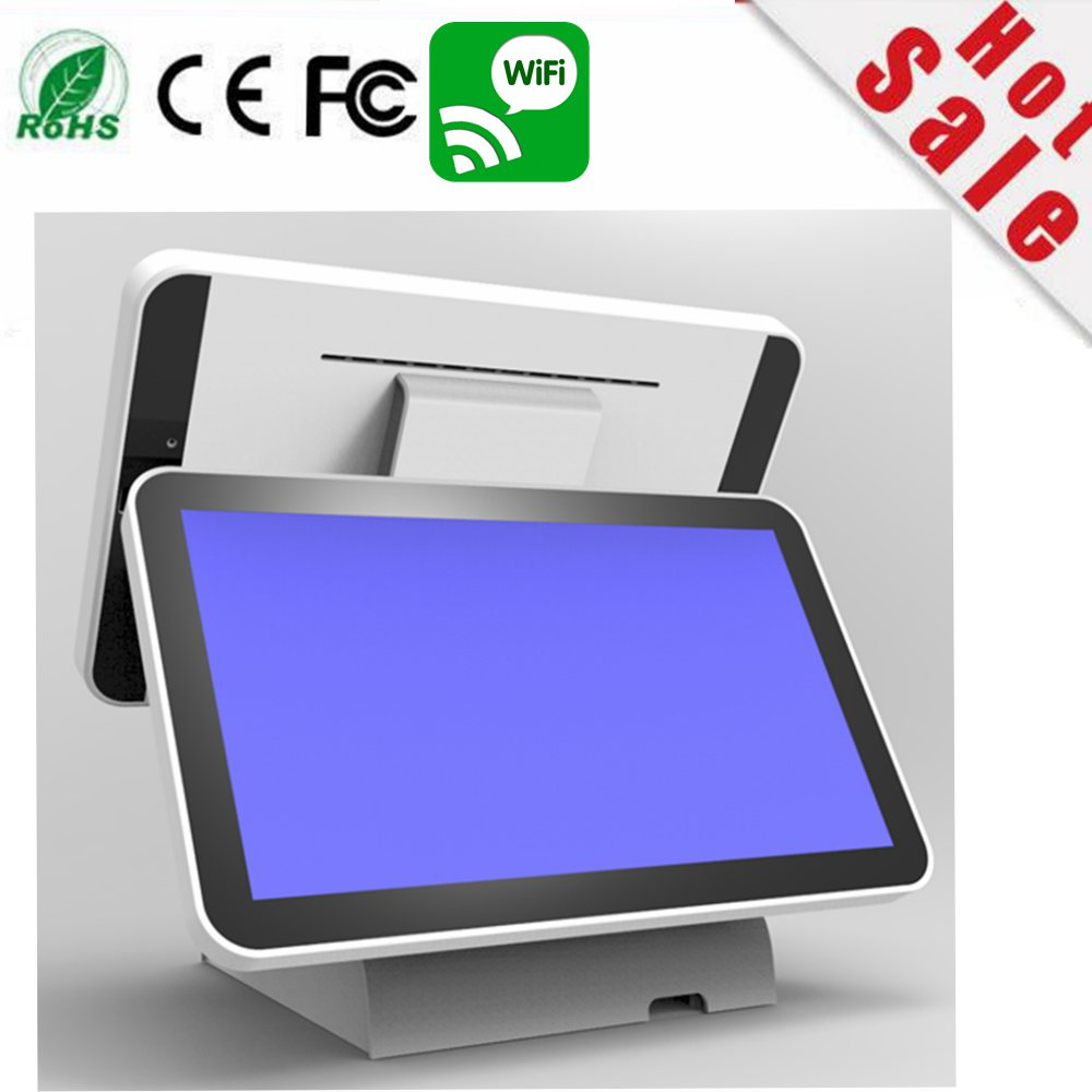 new stock 15.6 inch capacitance double sided touch Screen computer monitor windows pos systems all in one PC цена 2017