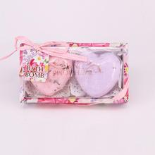 BellyLady 2 Pcs Heart-shaped Bath Salts Spa Skin Care Bombs Bubble Handmade SPA Stress Relief Exfoliating Salt