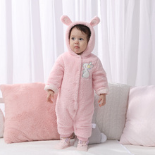 Newborn rompers baby clothes bear baby girl rompers hooded plush jumpsuit winter overalls for kids roupa menina baby clothing overalls huppa for boys 8959534 baby rompers jumpsuit children clothes kids