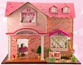Pink Sweetheart Large DIY Doll house 3D Miniature Light+Music box+Wood Handmade kits Building model Playhouse Home decoration