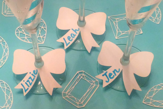 Bow tie drink wine glass ring markers cards charms bachelorette bridal  shower engagement party decorations tags-in Cards   Invitations from Home    Garden on ... 13aef503f079