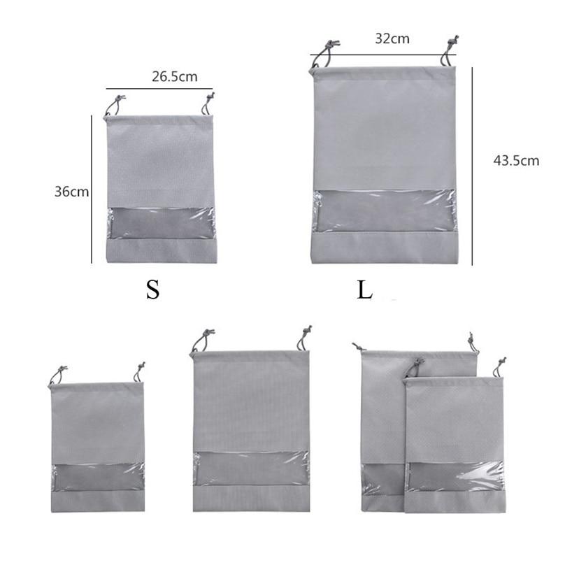 1pcs Shoe Bag Multi Purpose Travel Laundry Storage Pouch Zipper Storage Bags Organizer transparent Home Storage #3j17 (7)