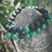 Wholesale 2Pcs/Set Couples Distance Bracelet Sets Classic 8mm Natural Stone Elastic Braiding Beaded Bracelets for Men Women
