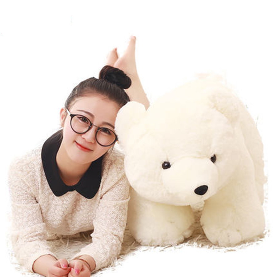 White Polar Bear Stuffed Animal Toy Pluche Stuffe Speelgoed Soft Toys For Girls Baby Polar Bear Plush Toys For Kids 70C0511