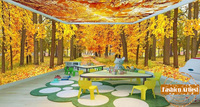 Custom modern 3d large wall wallpaper mural gold autumn maple tree leave forest warm peace tv sofa bedroom living room cafe bar