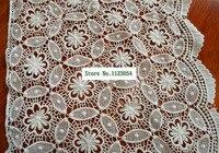 1 Yard/lot zachte spandex Katoen mode beige kant nieuwe bloemen ontwerp kant stof 30 cm breed AC899