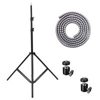 Tripod 2M 5M Line Light Lamp Umbrella Stands Adjustable Tripod Lighting Kit For HTC Vive VR Videos Shooting Photographic Stand