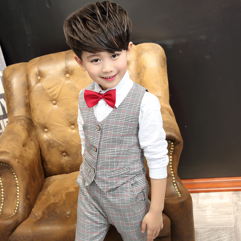e2e6a02f15807 2016 Kid Baby Boy Blazers Jacket Suit Formal Clothing Outerwear Party  Wedding Casual Costume Flower Boy Child Dress KC008-in Clothing Sets from  Mother ...