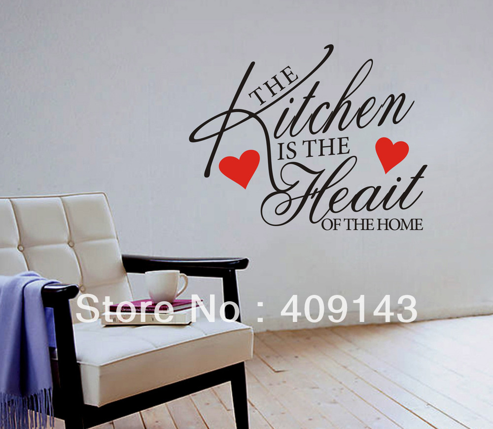 The Kitchen Is Heart Shaped Removable Vinyl Wall Art Quote Sticker Diy Home Decal Decoration Korean Refrigerator In Stickers From