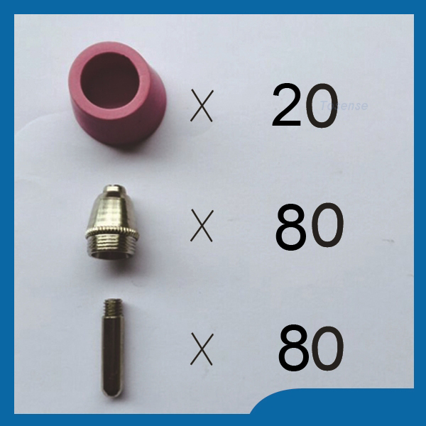 SG-55 AG-60 Plasma Cutting Cutter Torch Accessories KIT plasma consumables Plasma Nozzles TIPS 1.2mm 60Amp,180PK sg55 ag60 100pcs consumables kit tips for plasma cutter welder torch 100pk