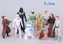 10pcs/set Star Wars action Figures Star Wars 7 Black Knight Darth Vader Stormtrooper bb-8 DIY Educational TOYS