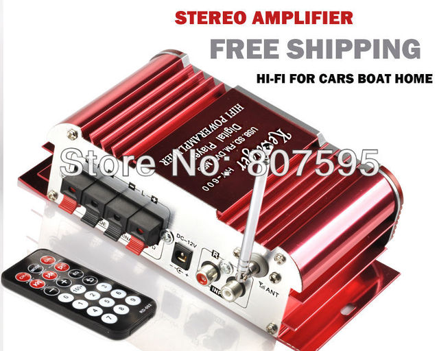 TOP QUALITY /free shipping/best 2CH Mini Hi Fi Audio auto Stereo ...