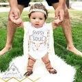 Bodysuit Bebê recém-nascido Do Bebê Meninos Meninas Roupas 0-24 M Infantil Crianças Roupa Da Criança Bebes Verão Bodysuits Playsuits Um-peça