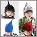 Winter Beanie Classic Kids Tight Pointy Knitted Hat Fashion Unisex Colorful Beanies Boy Girl's Lovely Caps For Children Bonnet