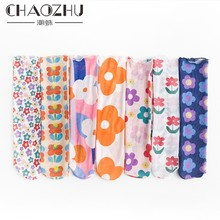 CHAOZHU korea japanese Kim Hyun A style floral patterns fishnet Gauze printing flowers loose socks summer fashion