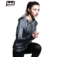 New Women S High Elasticity Sports Jacket With Siamese Hat Fashion Stitching Design Yoga Coat For