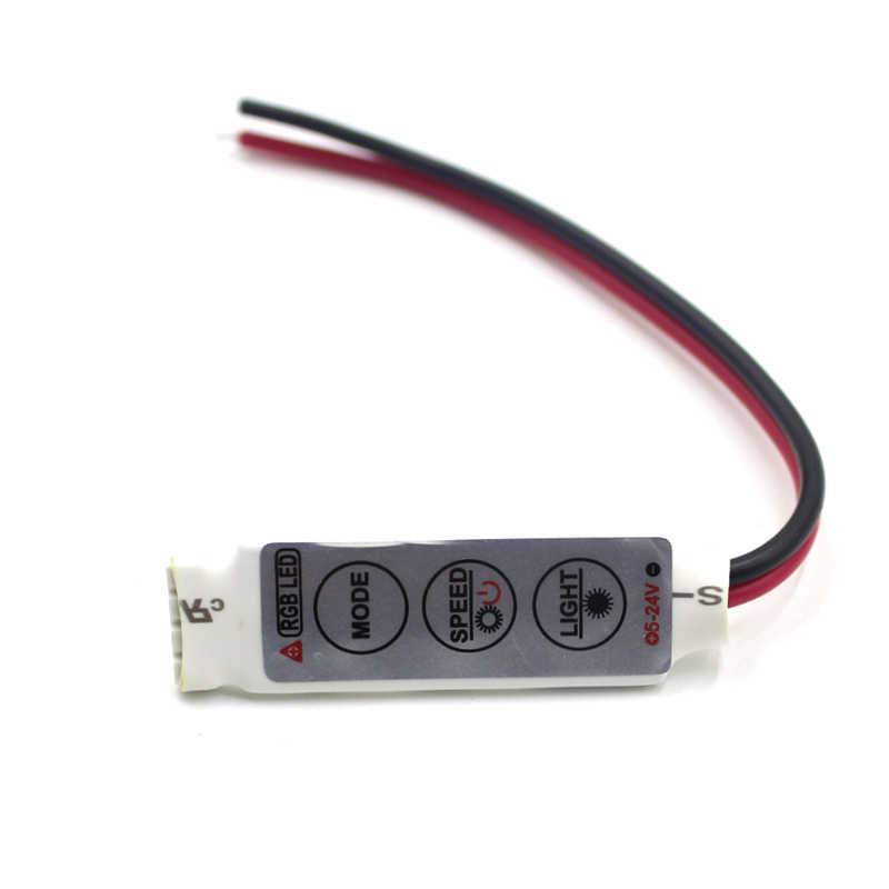 تيار مستمر 12 فولت 12A 3 مفاتيح صغيرة LED RGB تحكم باهتة سائق ل RGB 5050/3528/2835/5730/5630/3014 شريط ليد SMD أضواء